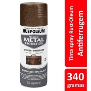 Tinta Spray Metal Protection Marrom Martelado Ref: 25870 Rust-Oleum