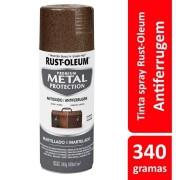 Tinta Spray Metal Protection Marrom Martelado Ref: 25870 Rust-Oleum