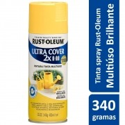 Tinta Spray Ultra Cobertura Amarelo Sol Brilhante Ultra Cover 340g Rust Oleum