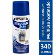 Tinta Spray Ultra Cobertura Azul Acetinado Ultra Cover 340g Rust Oleum