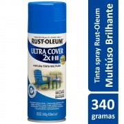 Tinta Spray Ultra Cobertura Azul Brilhante Ultra Cover 340g Rust Oleum