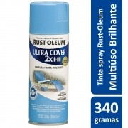 Tinta Spray Ultra Cobertura Azul Spa Brilhante Ultra Cover 340g Rust Oleum
