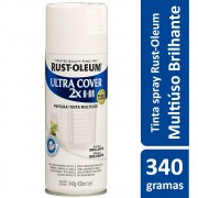 Tinta Spray Ultra Cobertura Branco Brilhante Ultra Cover 340g Rust Oleum