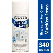 Tinta Spray Ultra Cobertura Branco Fosco Ultra Cover 340g Rust Oleum