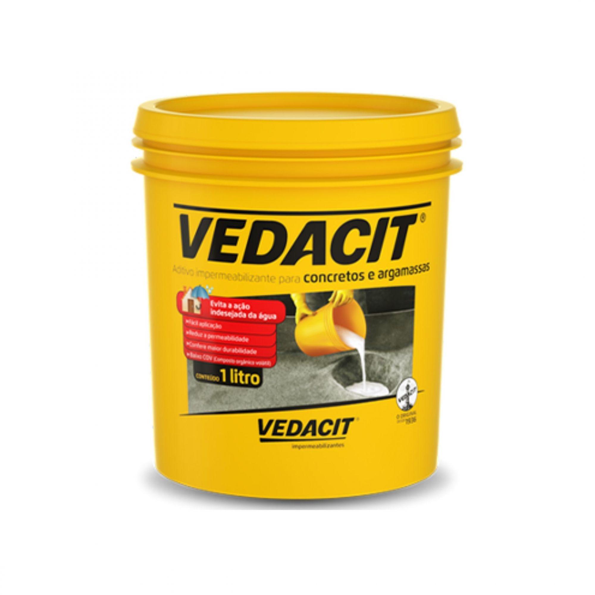 Aditivo Impermeabilizante Vedacit 1 Litro Vedacit