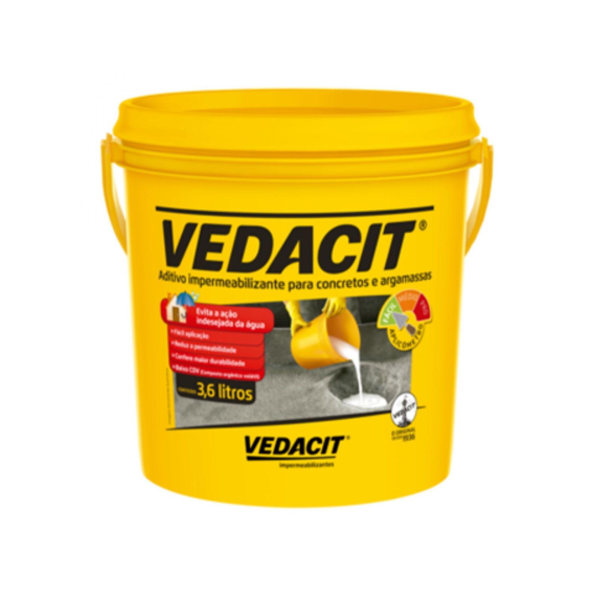 Aditivo Impermeabilizante Vedacit 3,6 Litros Vedacit