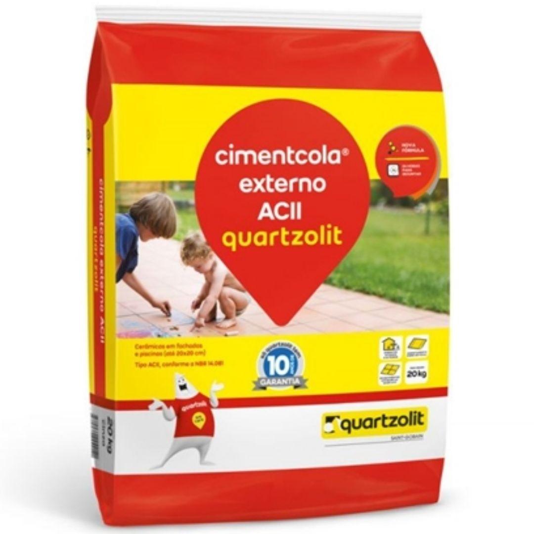 Argamassa Externa ACII Cinza 20kg Quartzolit