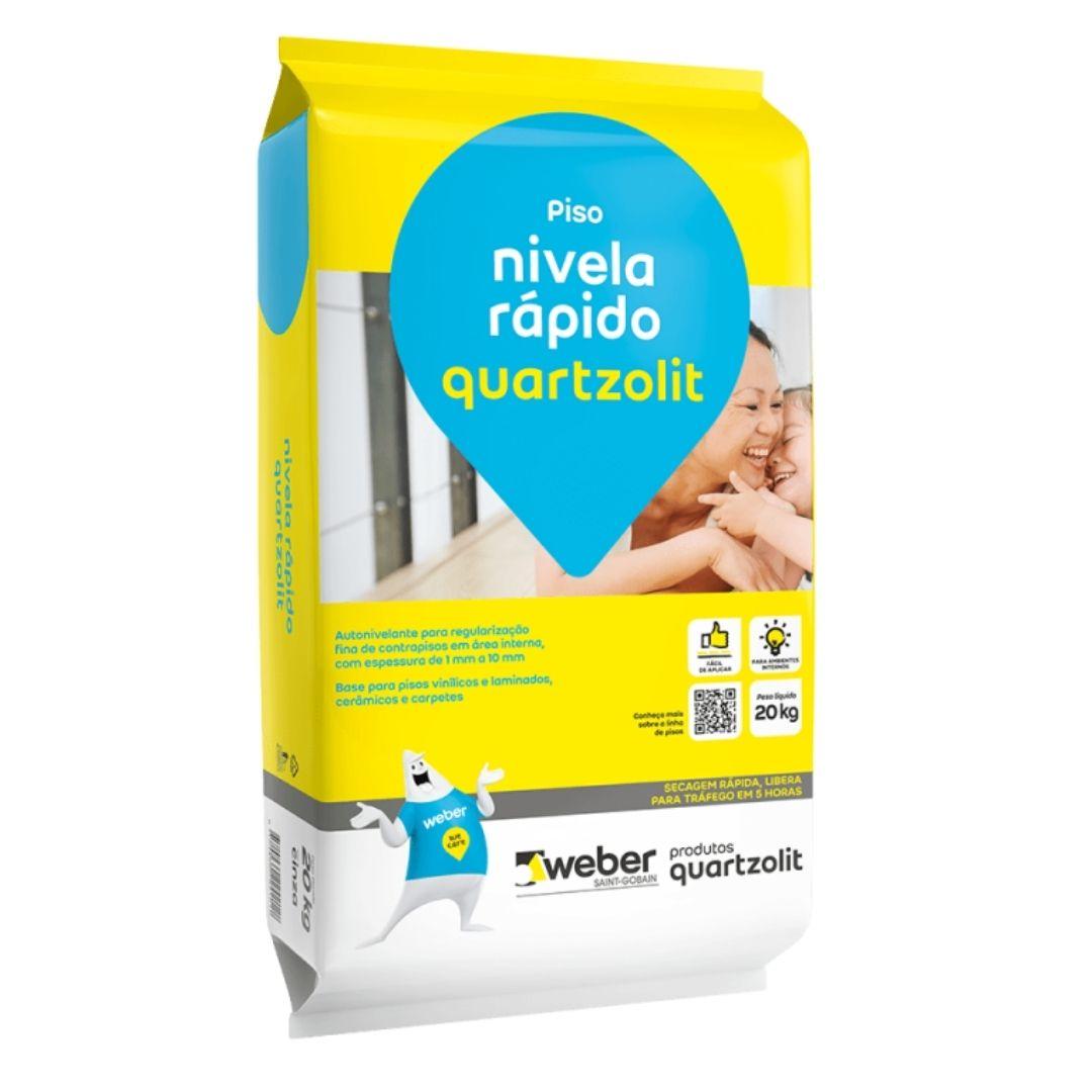 Argamassa Nivela Rapido Autonivelante 20kg Quartzolit