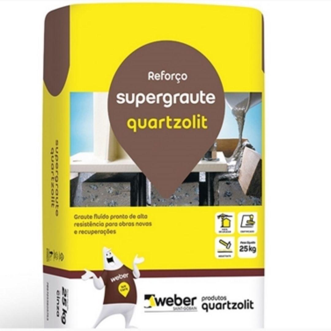 Argamassa SuperGraute 25kg Quartzolit