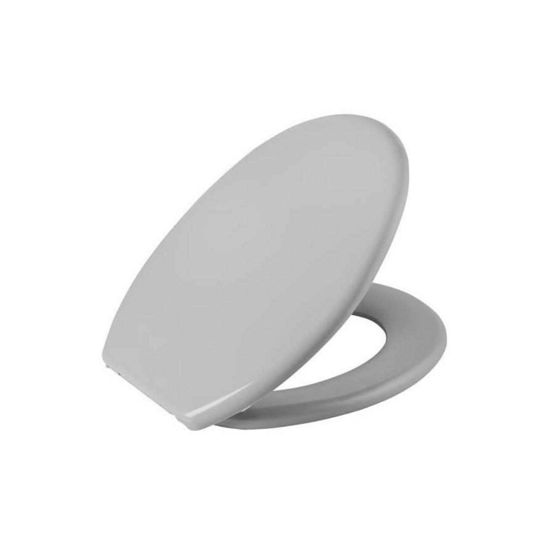 Assento Sanitário Almofadado Universal Oval Cinza Astra