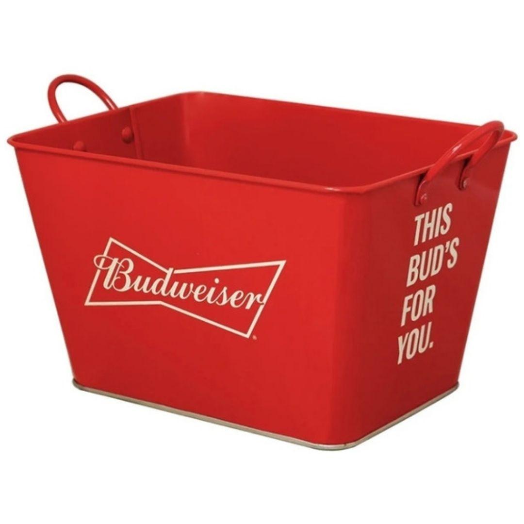 Balde de Gelo Retangular Vermelho Ref: 21421 Budweiser