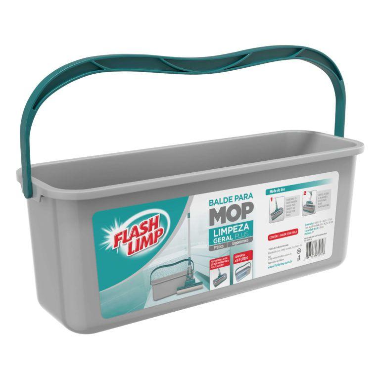 Balde Para Mop Limpeza Geral Plus Flash Limp