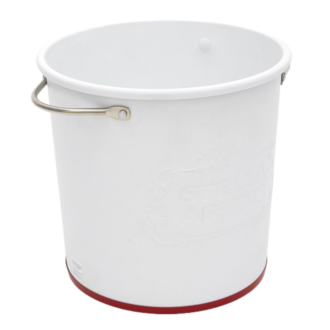Balde de Gelo Alto Relevo Branco Stella Artois  Ref: 21415