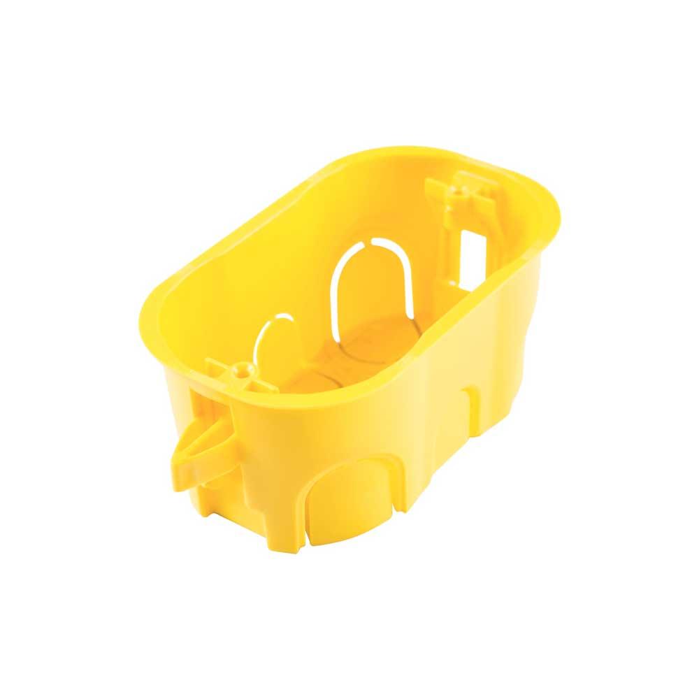 Caixa de Luz 4x2 Drywall Retangular Amarela Tramontina