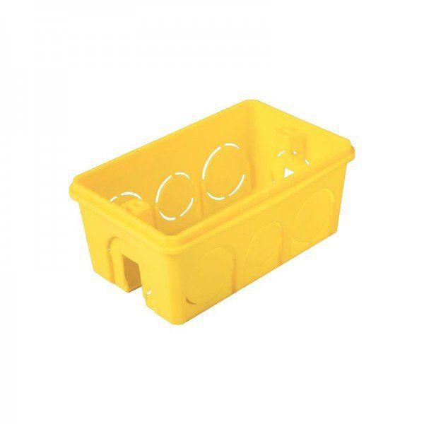 Caixa de Luz 4x2 Retangular Amarela Tramontina