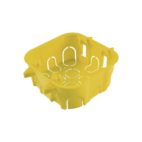 Caixa de Luz 4x4 Drywall Amarela Tramontina