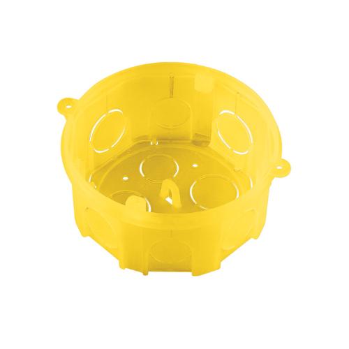 Caixa de Luz 4x4 Octogonal Amarela Tramontina