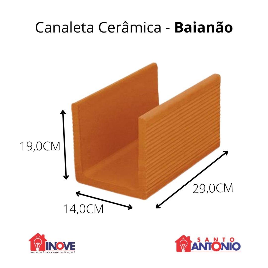 Canaleta Cerâmica Baianão 14X19X29cm unidade