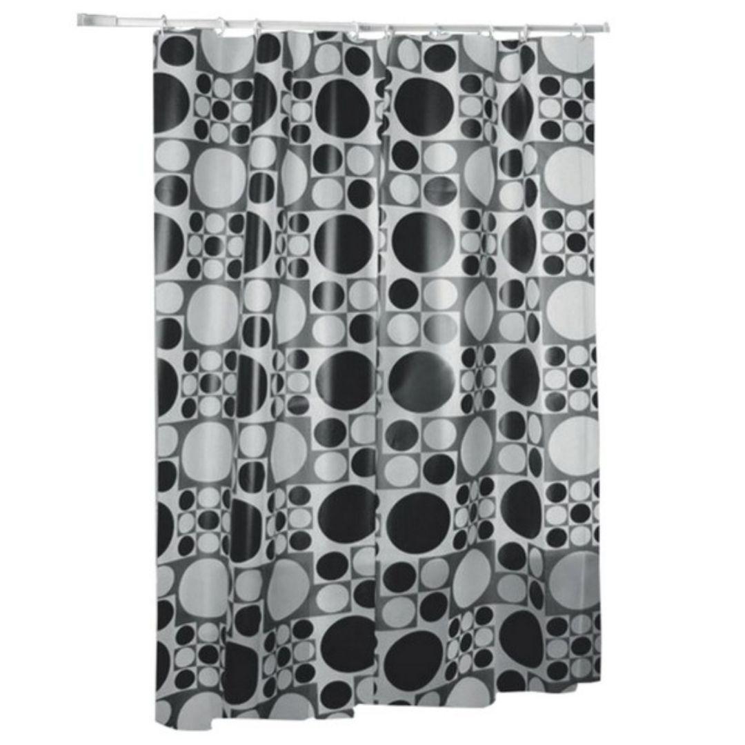 Cortina Para Box Branco c/ Preto Ref: PR2701-3 Primafer