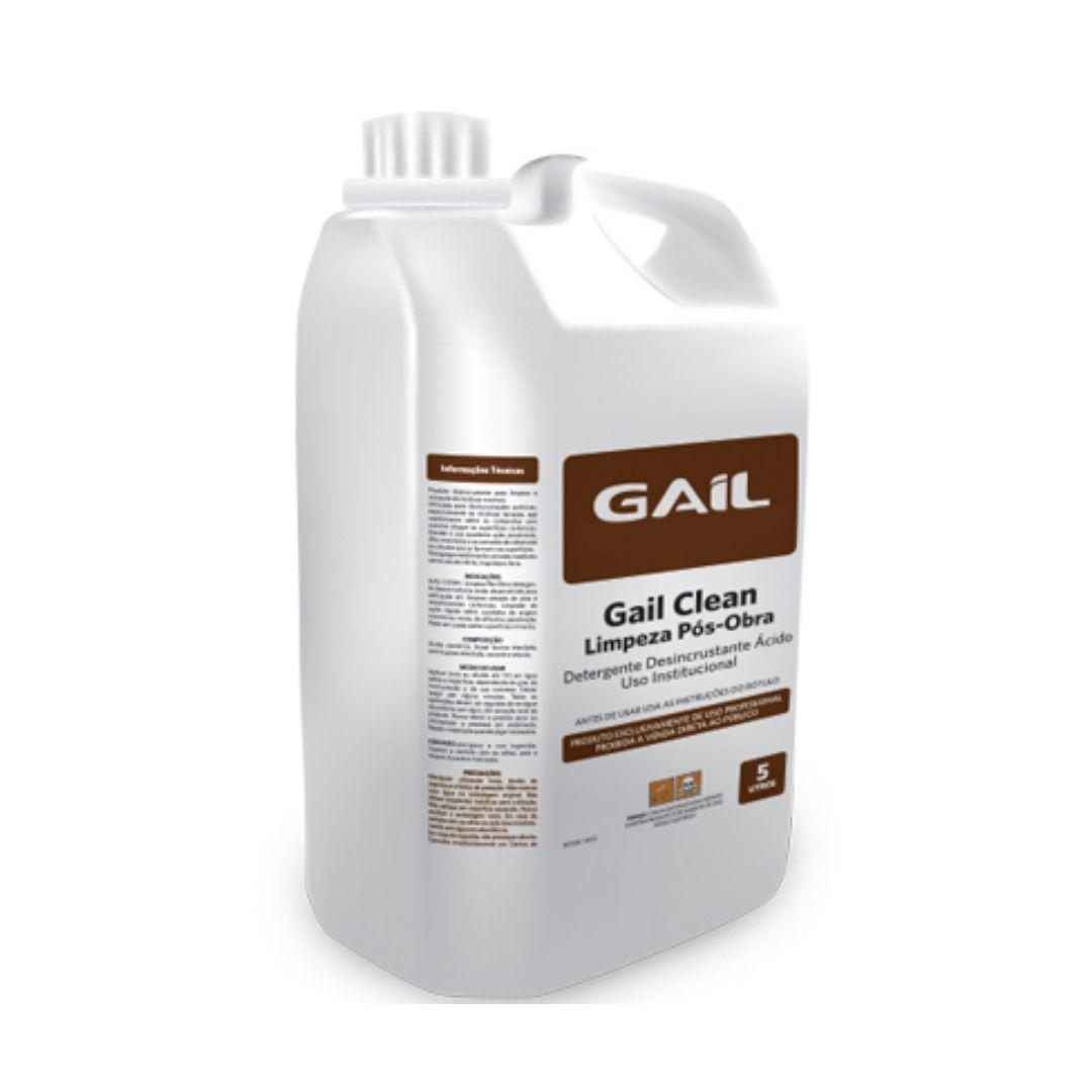 Detergente Desincrustante Pós Obra Para Piso Cerâmico 5 Litros Gail Clean