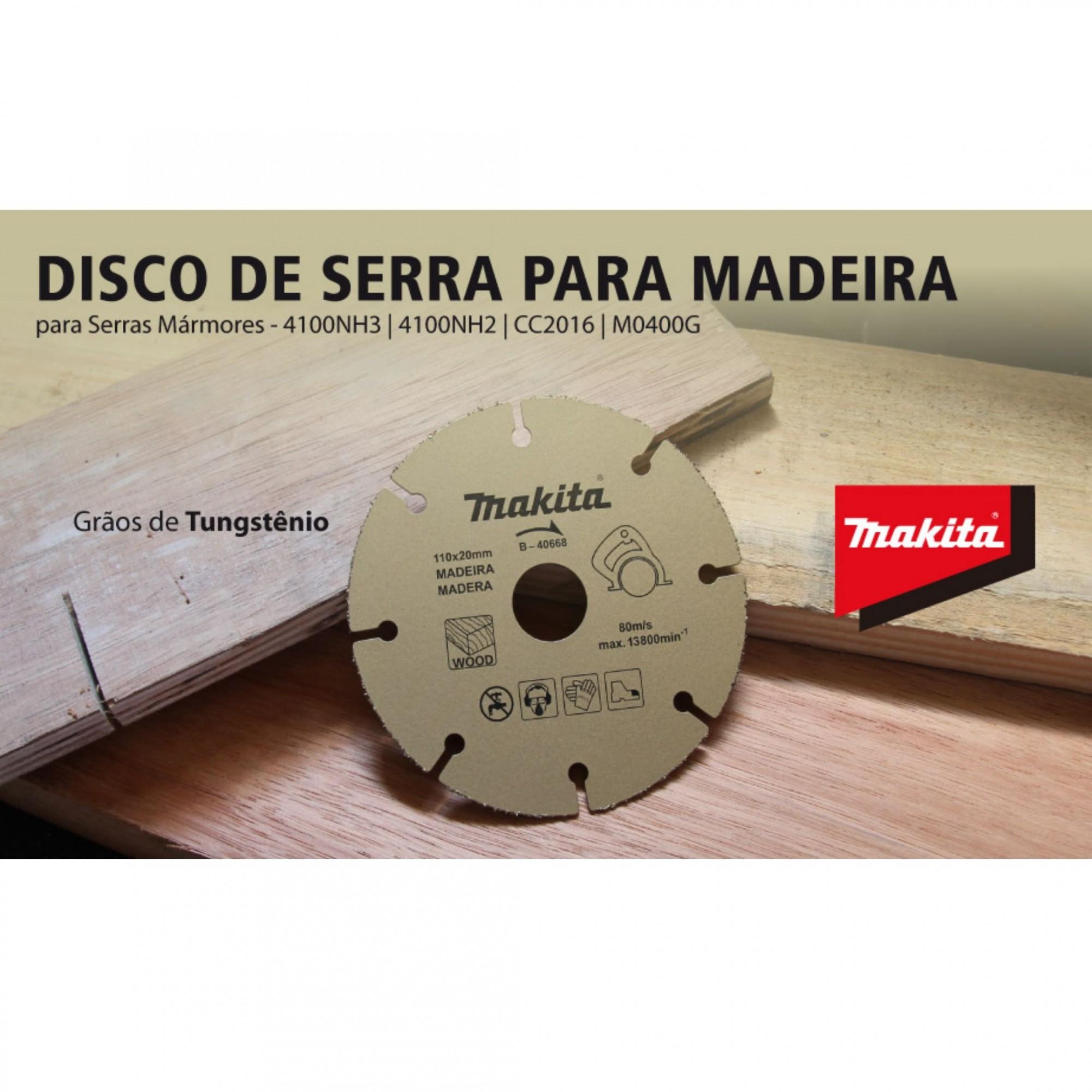 Disco De Serra Para Madeira de Tungstênio B40668 Makita