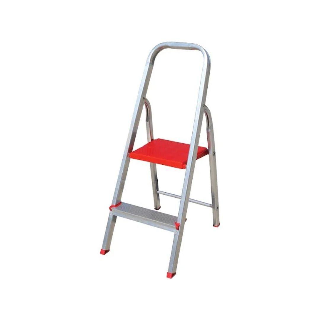 Escada de Alumínio Domestica 2 Degraus Dobrável  Reisam