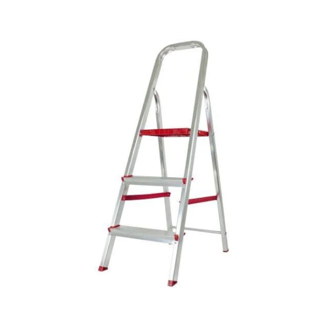 Escada de Alumínio Domestica 3 Degraus Dobrável Reisam
