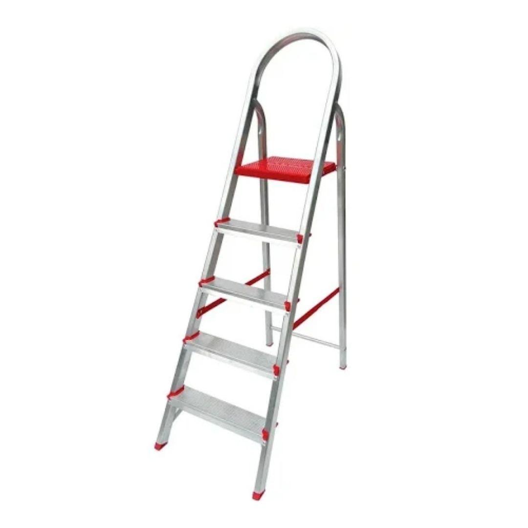 Escada de Alumínio Domestica 5 Degraus Dobrável Reisam