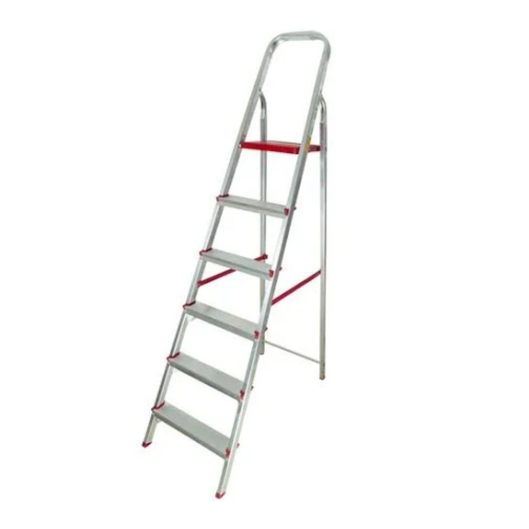 Escada de Alumínio Domestica 6 Degraus Dobrável Reisam