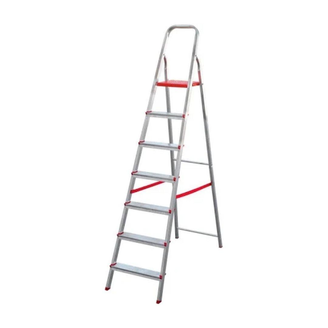 Escada de Alumínio Domestica 7 Degraus Dobrável Reisam