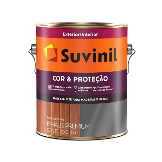 Esmalte Brilhante Cinza Platina 3,6 Litros Suvinil