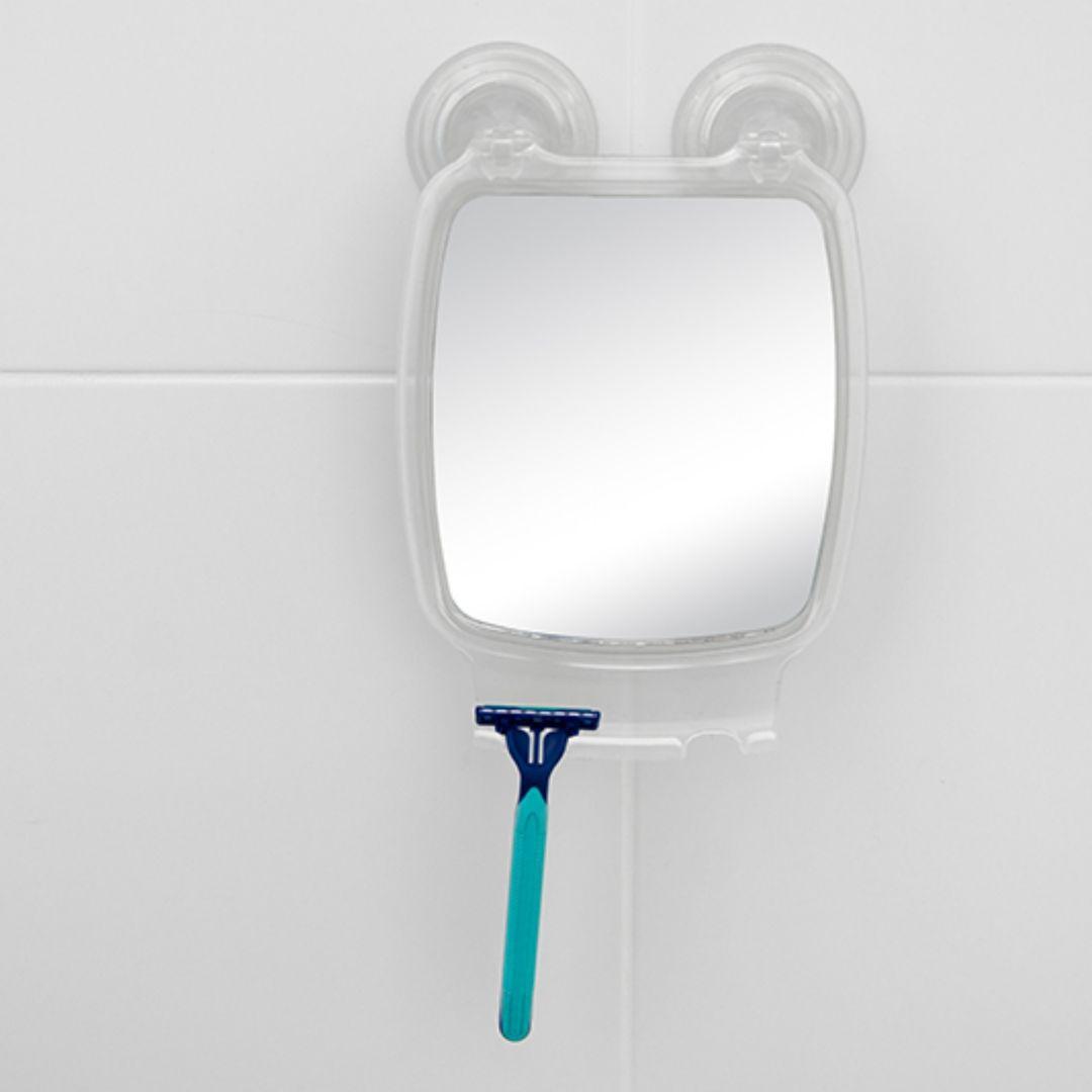 Espelho com Ventosa Para Box Banheiro Transparente AV/ESP Astra