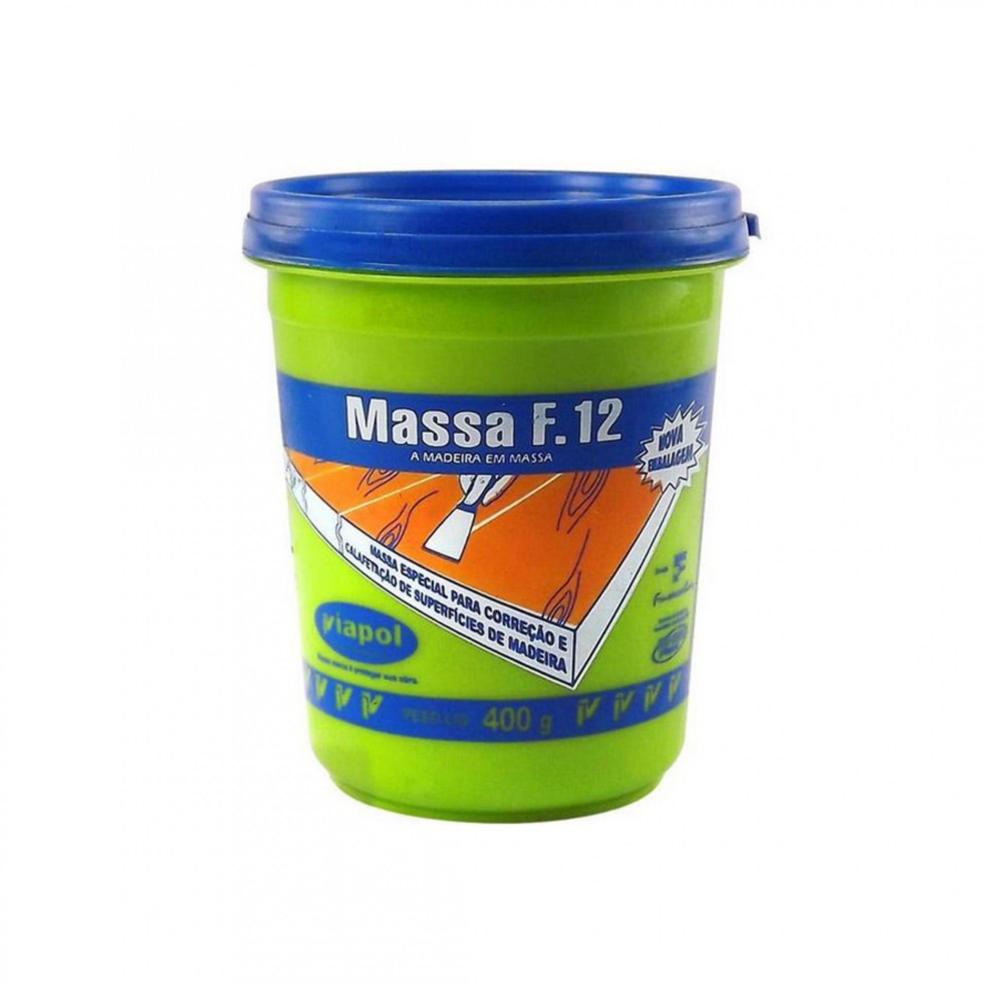 F12 Massa Para Madeira Pinus 400g Viapol
