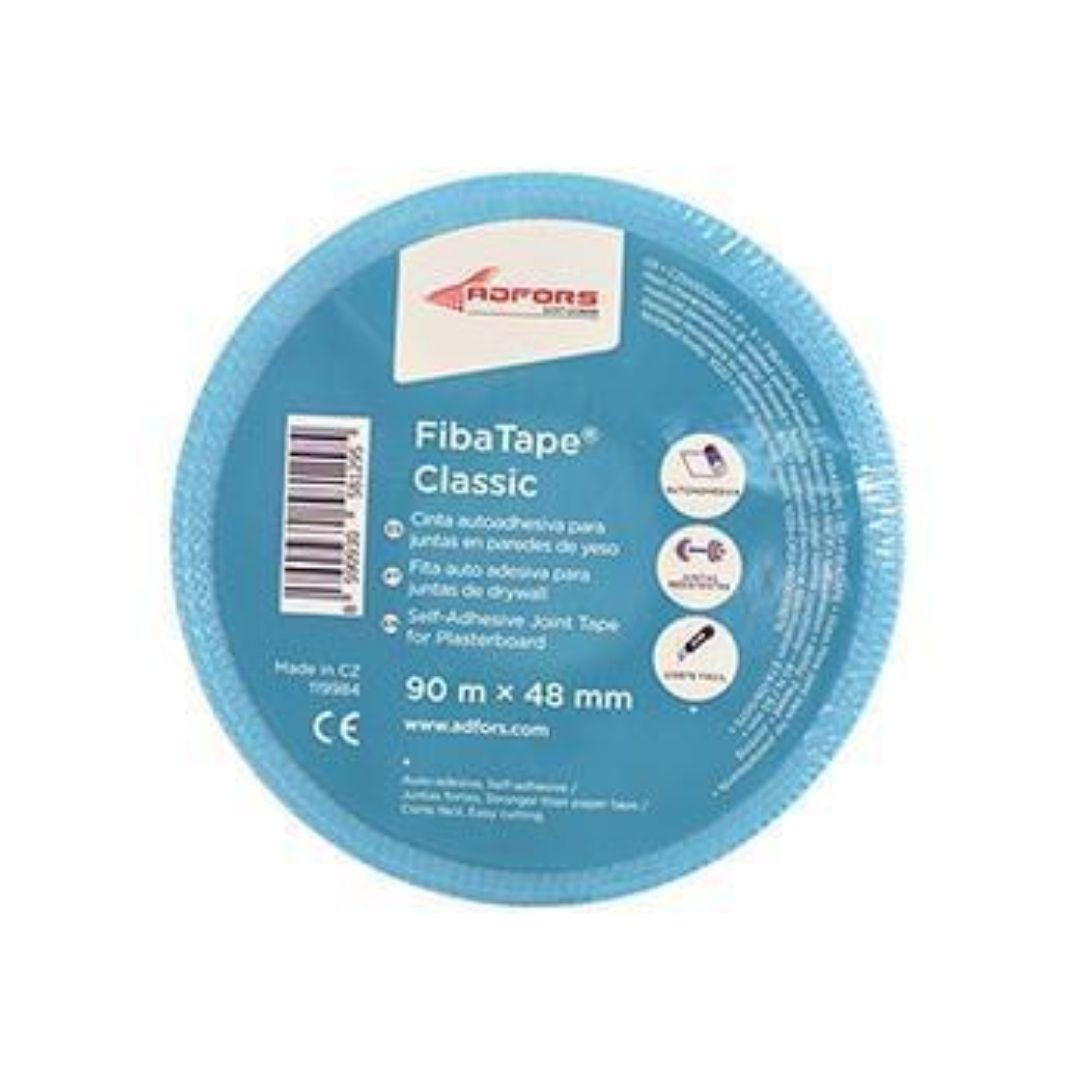 Fibatape Fita Telada Para DryWall 90m x 48mm Azul Adfors