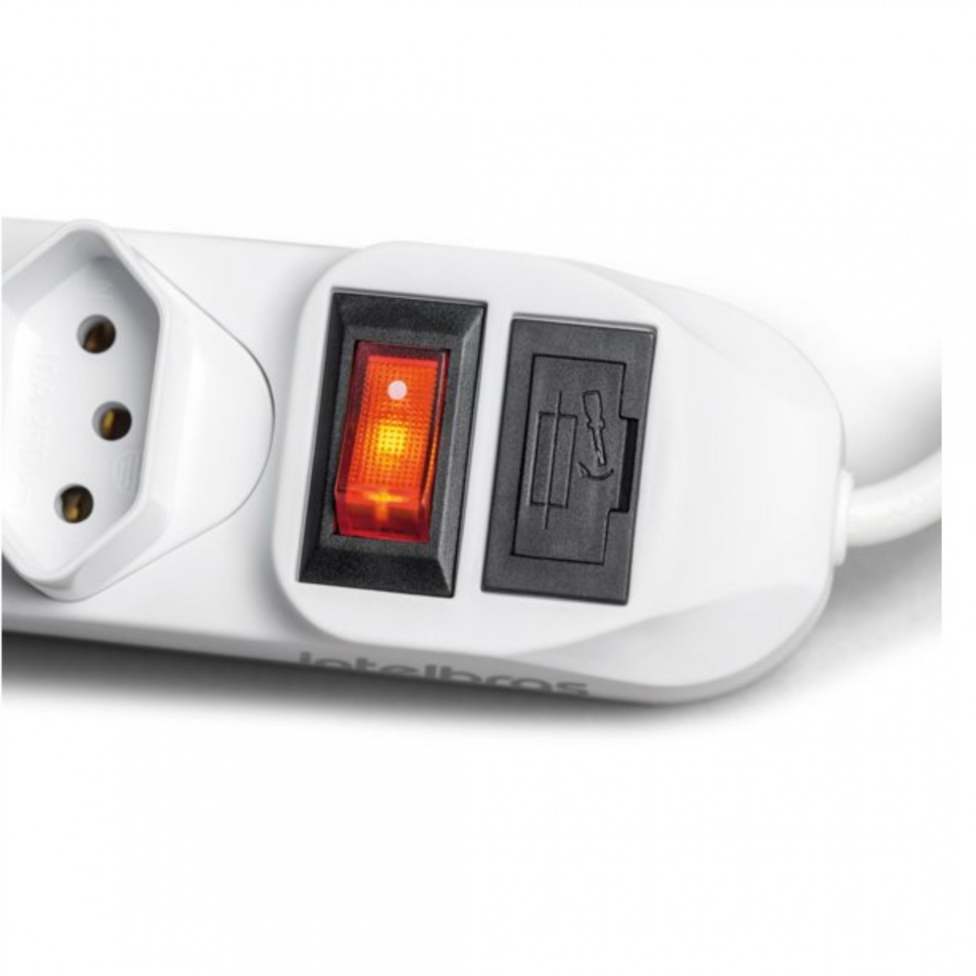 Filtro de Linha com 6 Tomadas Bivolt Branco EPE 1006 Intelbras