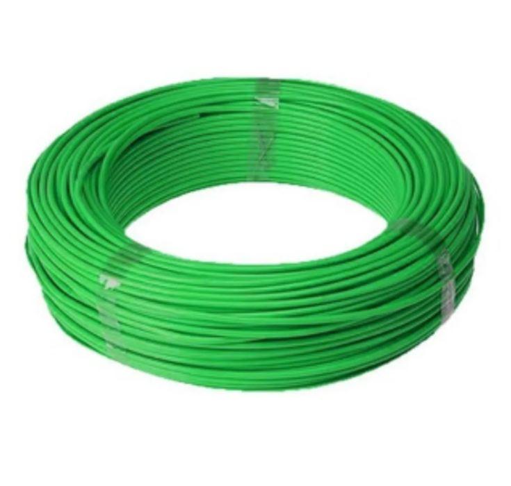 Fio Cabo Flexível 6mm Sil Flexsil O Melhor C/ 1m - Verde