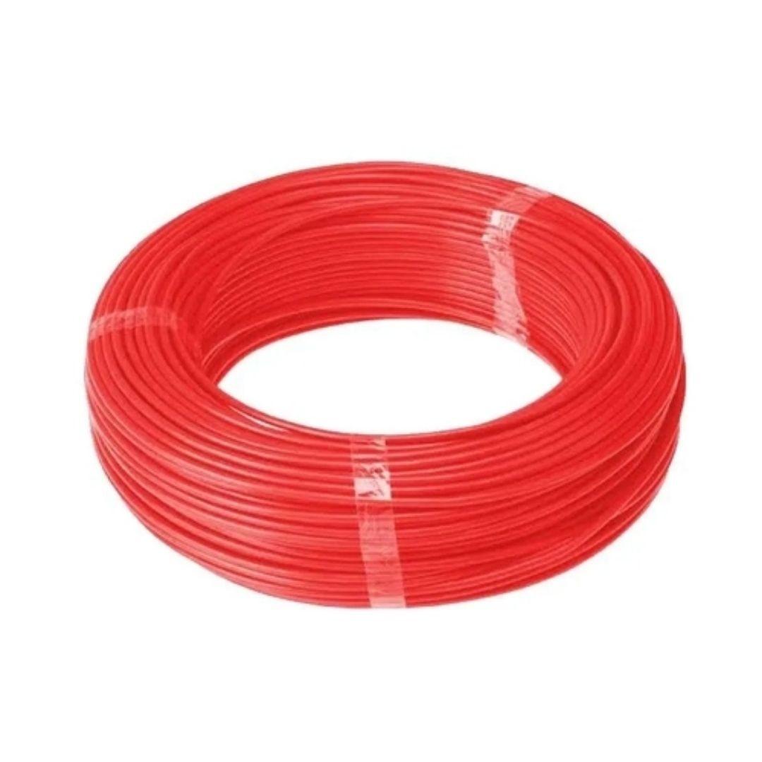 Fio Cabo Flexível 6mm Sil Flexsil O Melhor C/ 1m - Vermelho