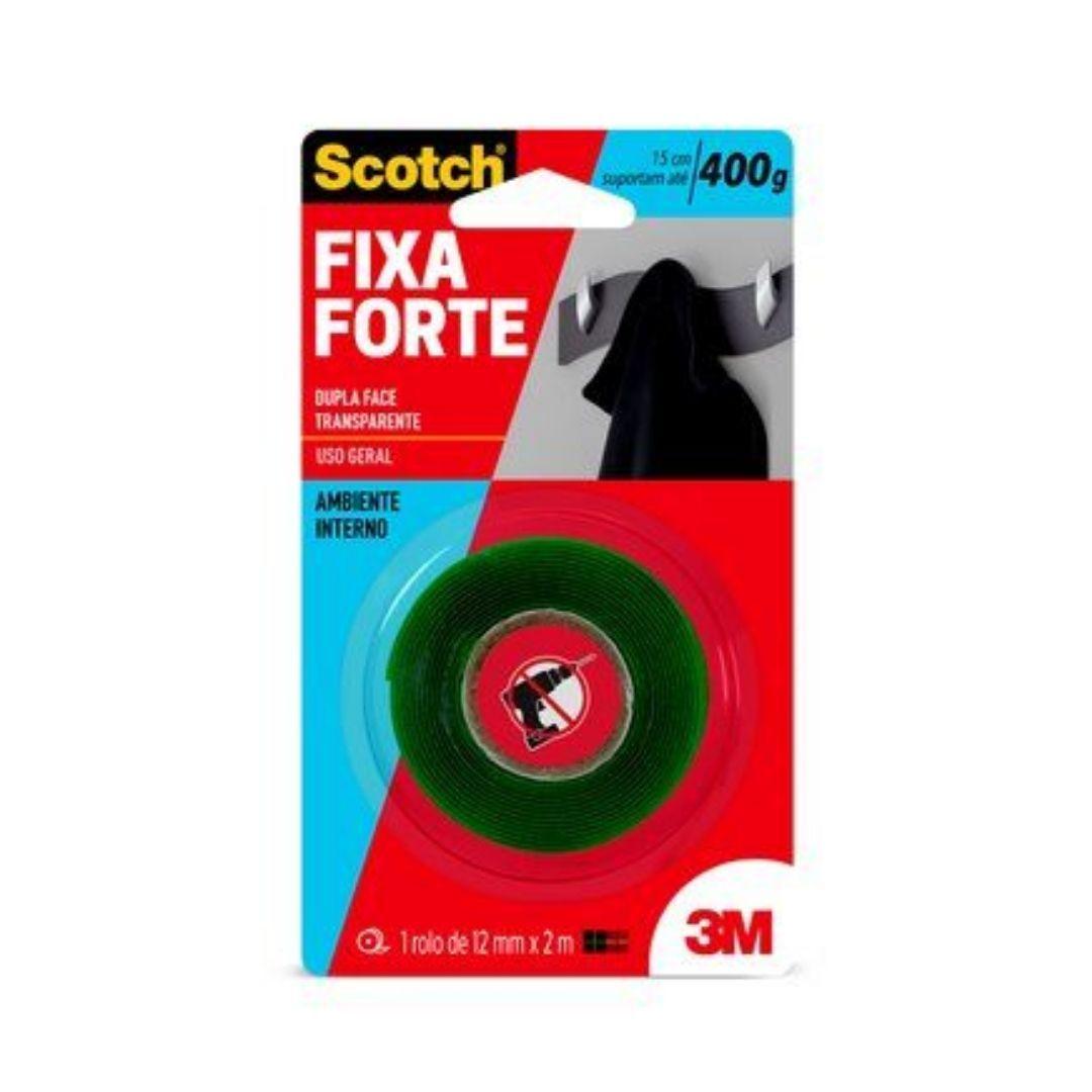Fita Dupla Face Transparente Fixa Forte 12mm x 2m 3M