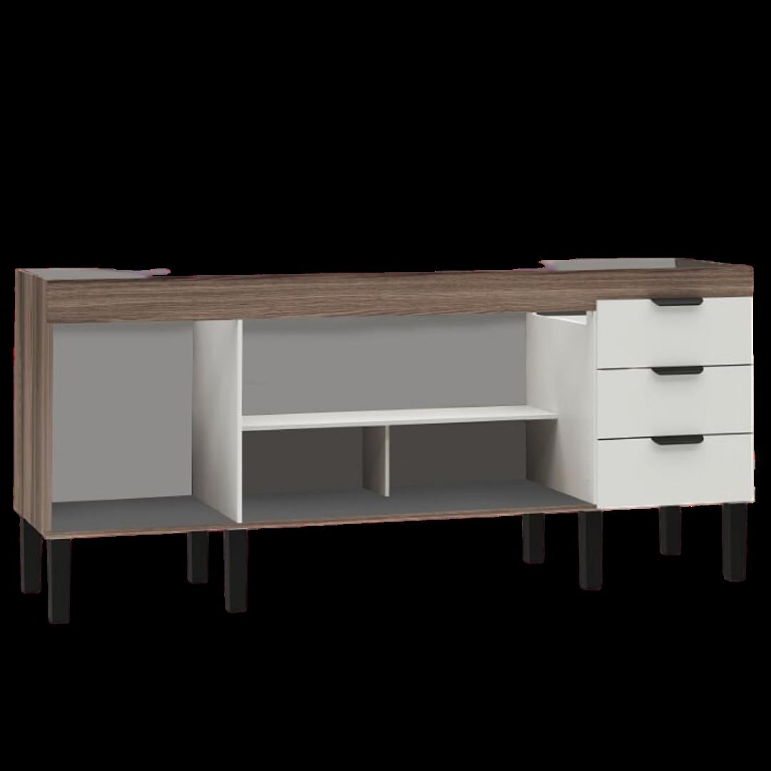 Gabinete de Cozinha em Madeira Branco Flamingo 194 Cozimax