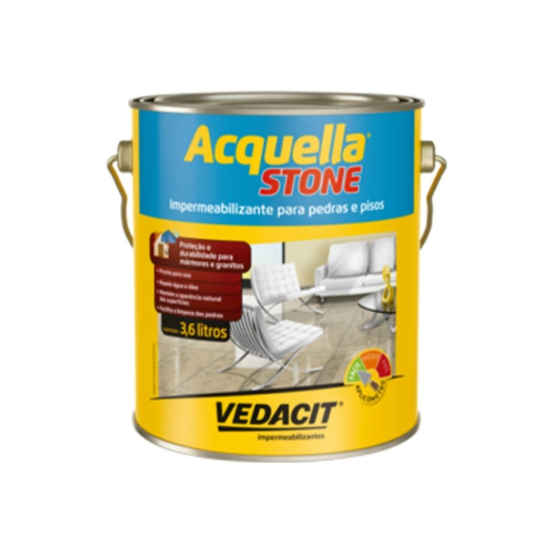 Impermeabilizante Acquella Stone 3,6 Litros Vedacit