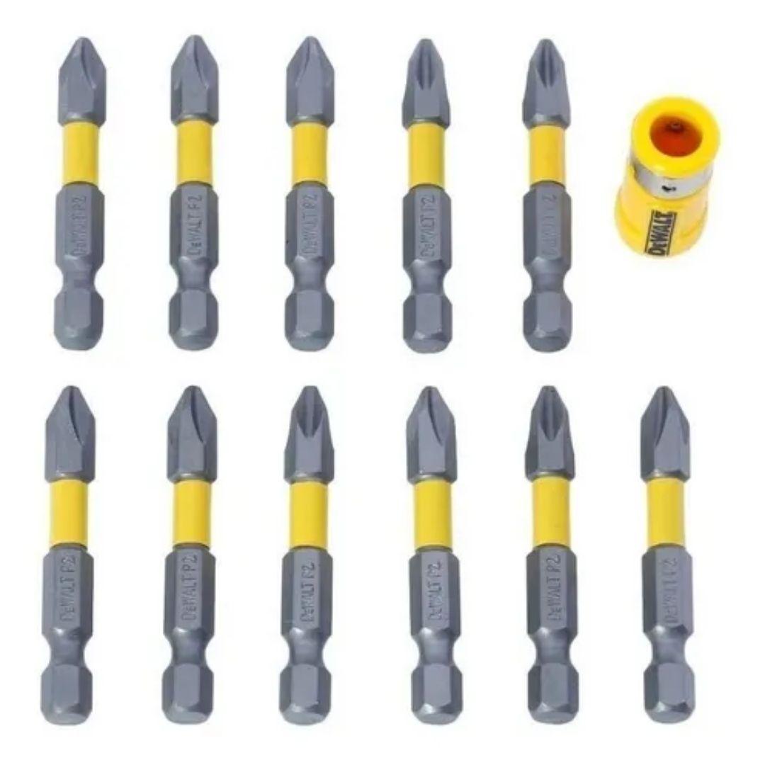 Jogo Pontas Bits Phillips com 12 peças Magnético Dewalt