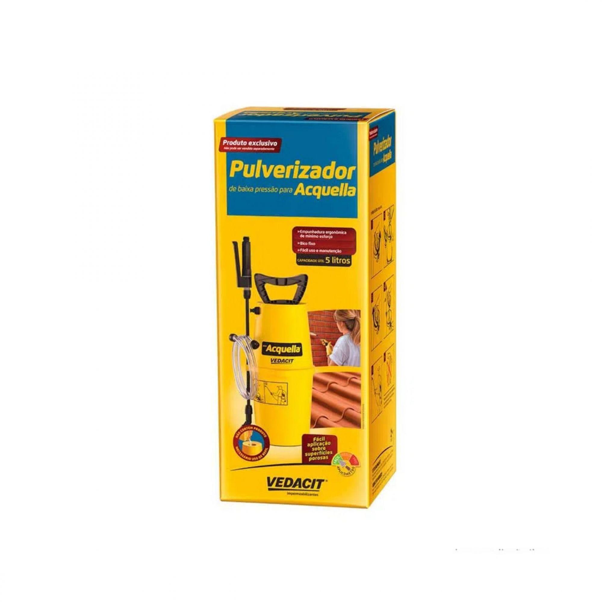 Kit Pulverizador Impermeabilizante Acquella 5 Litros Vedacit