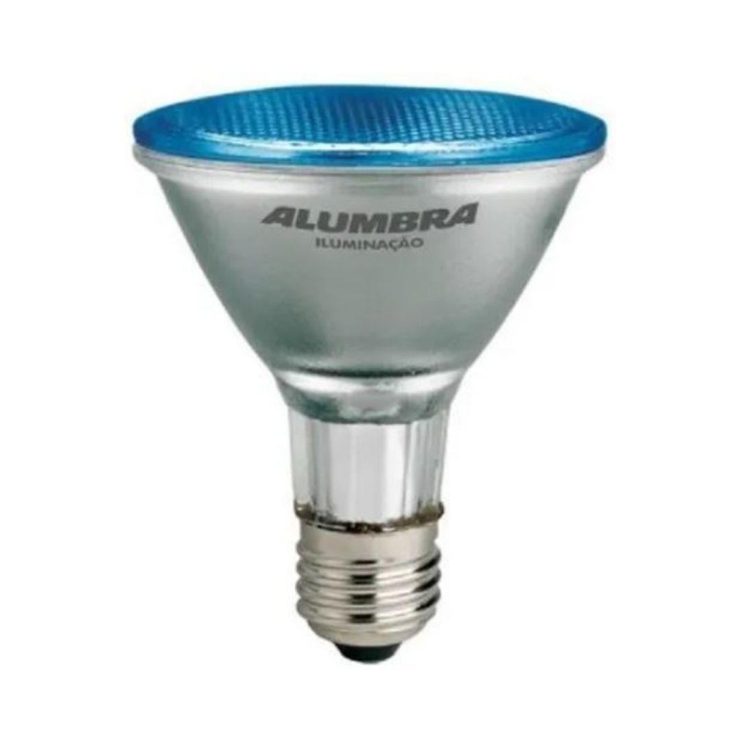 Lâmpada Halógena PAR 38 Azul 100w Alumbra
