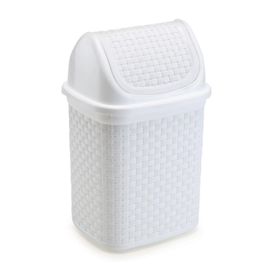 Lixeira de Pia Basculante 4,5 Litros Branca Rattan Nitron