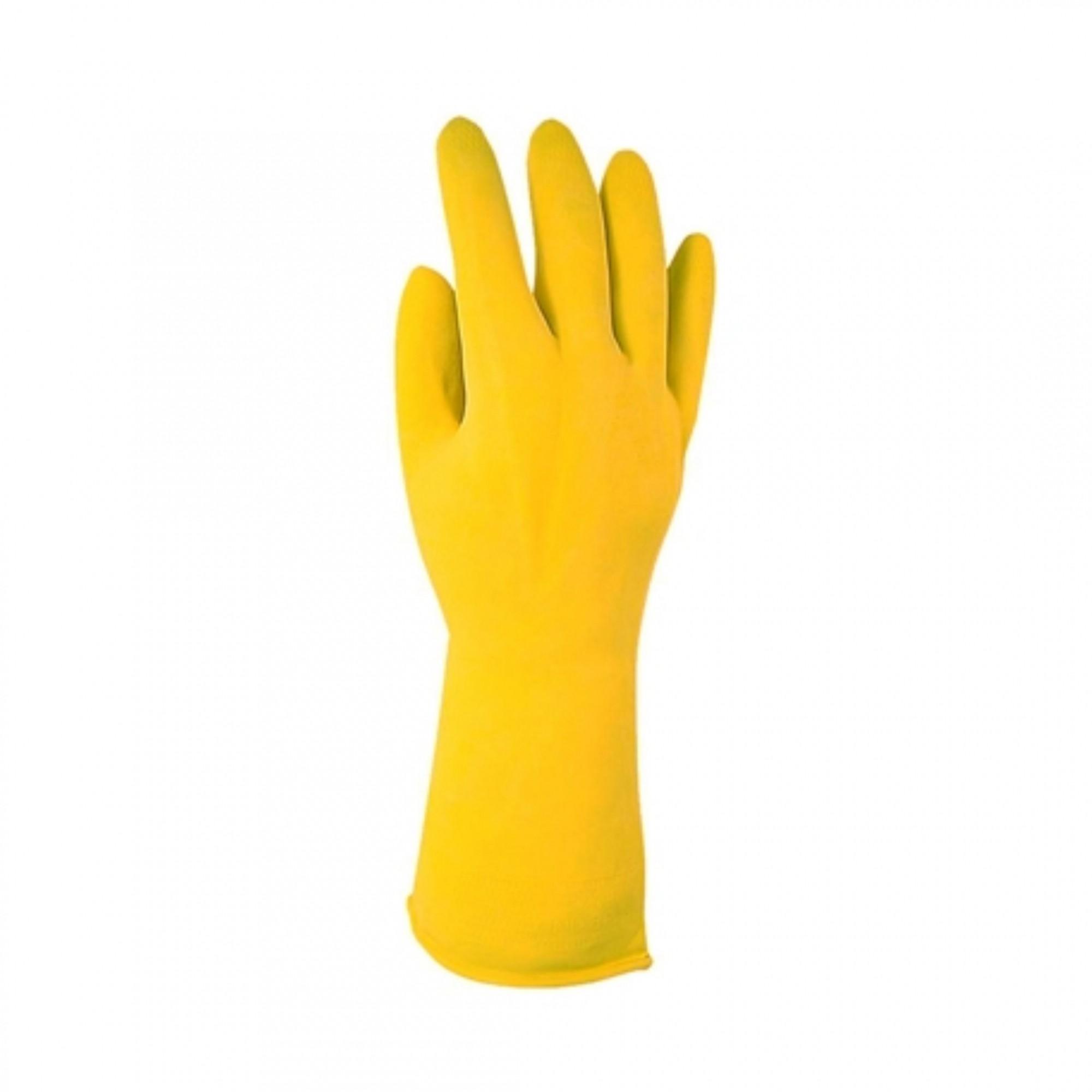 Luva Top Multiuso Para Limpeza Amarela G Sanro