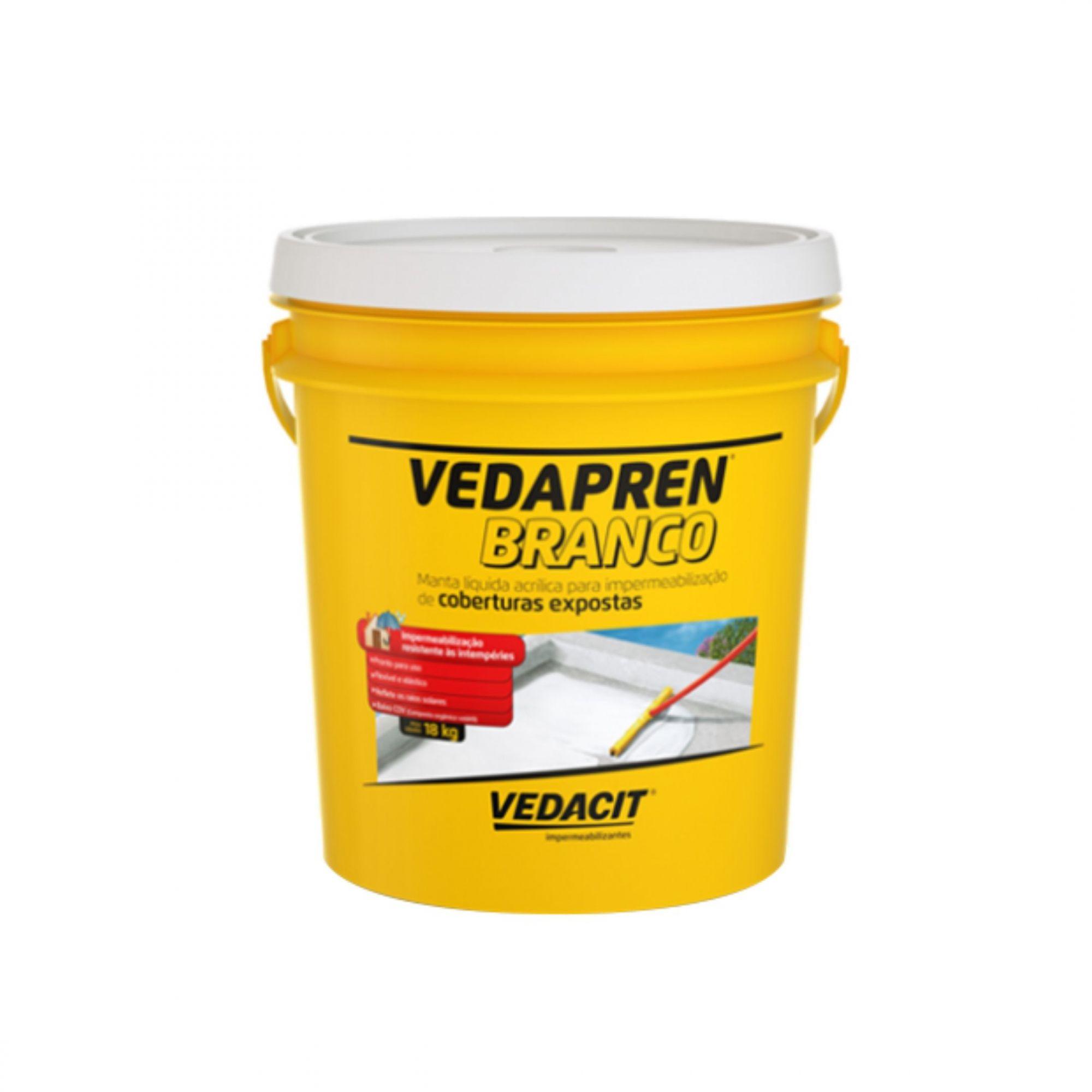 Manta Liquida Vedapren Branco 3,6 Litros Vedacit