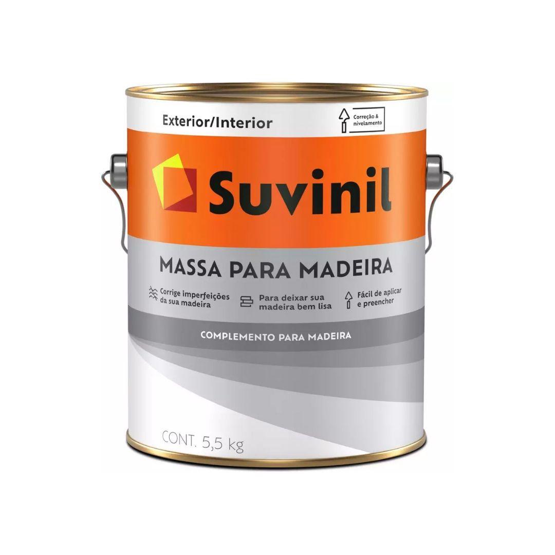 Massa Para Madeira 5,5kg Branca Suvinil