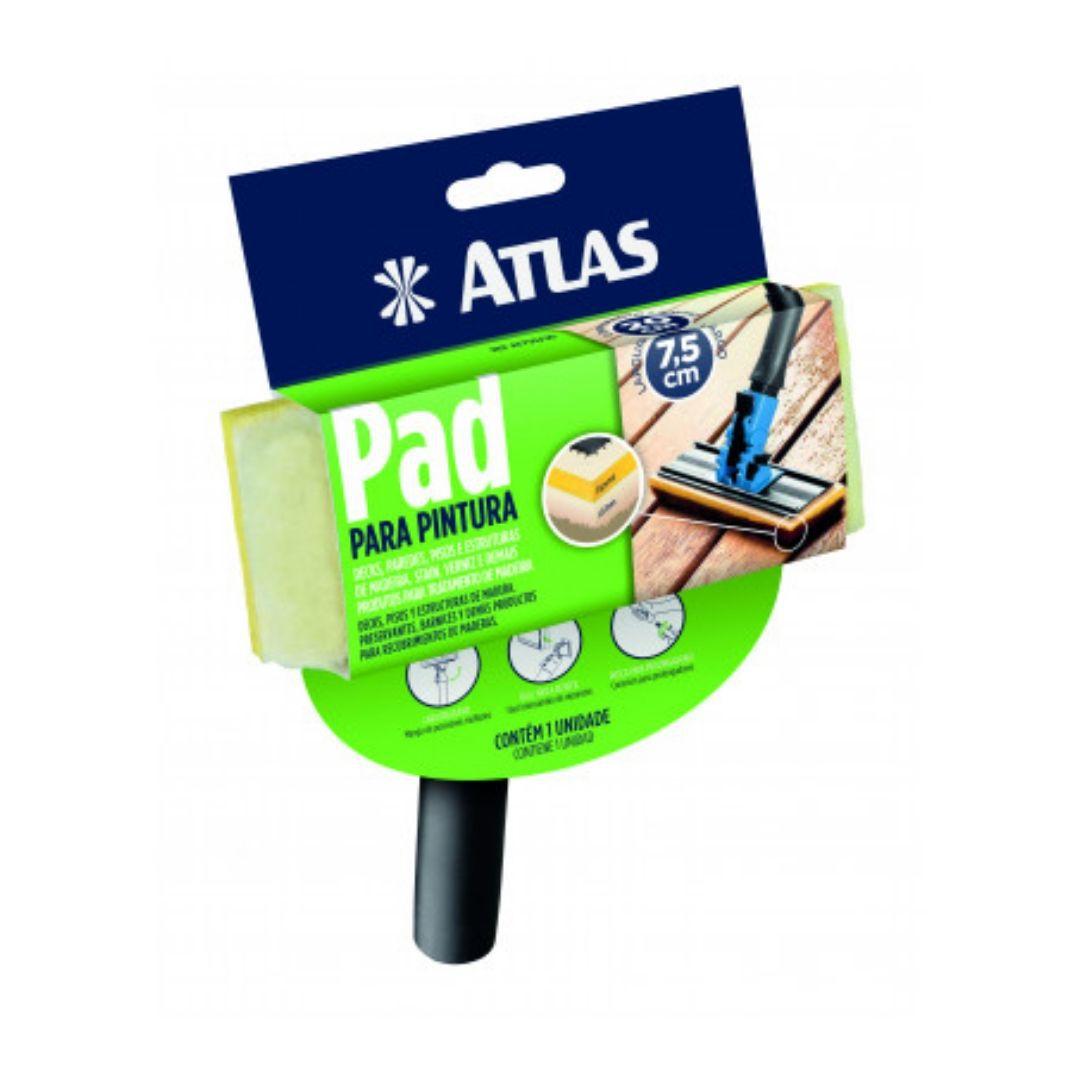 Pad Para Pintura de Espuma Poliéster + Lã Com cabo AT750/90 Atlas