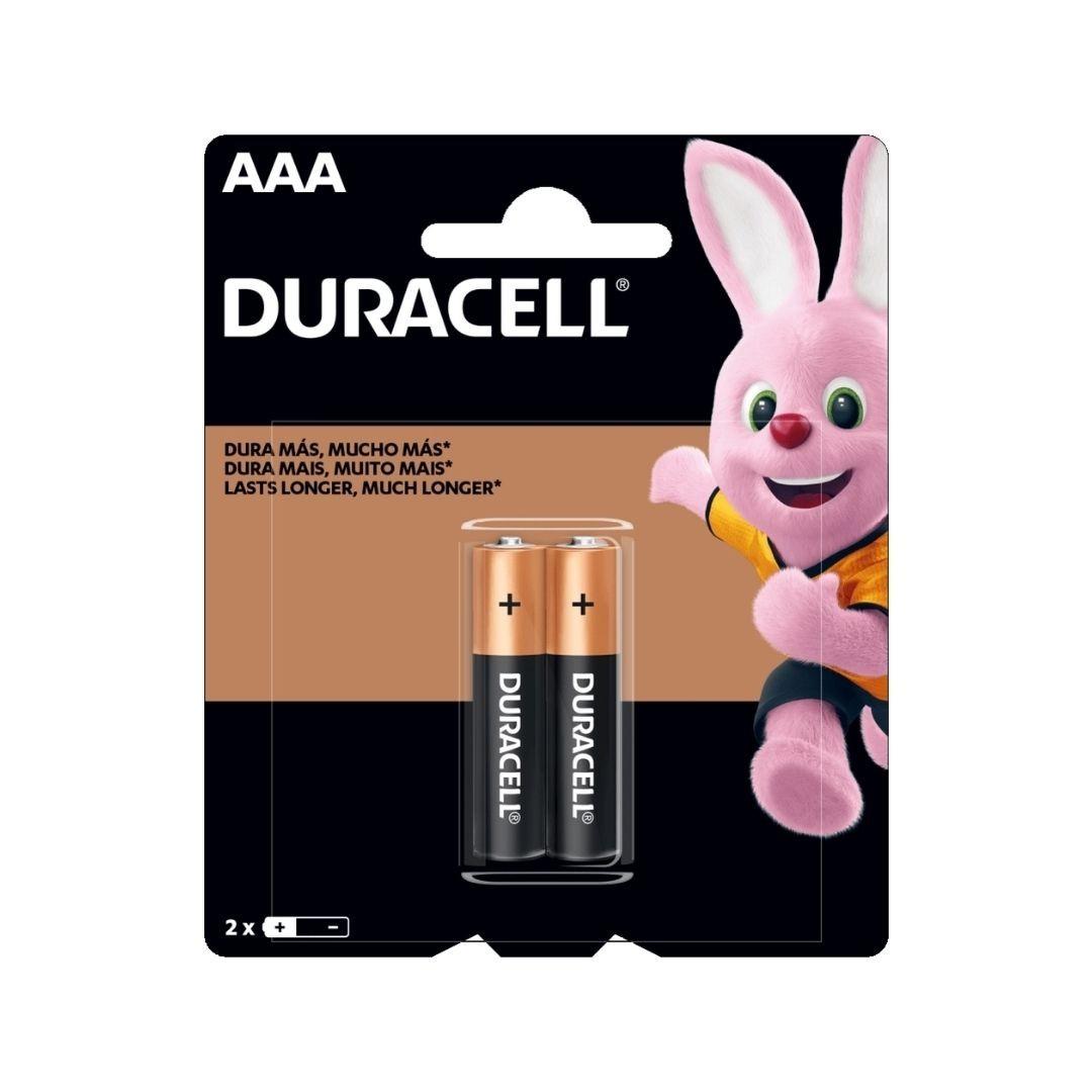 Pilha Alcalina AAA Palito 2 Unidades Duracell