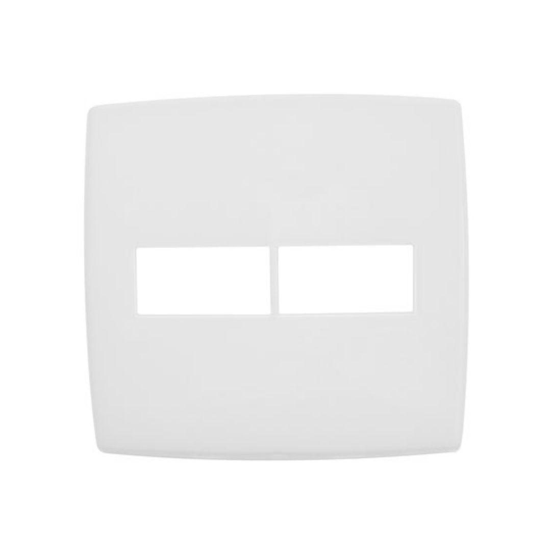 Placa 2 Postos Verticais Separados 4x4 1+1 618511 Pial Plus